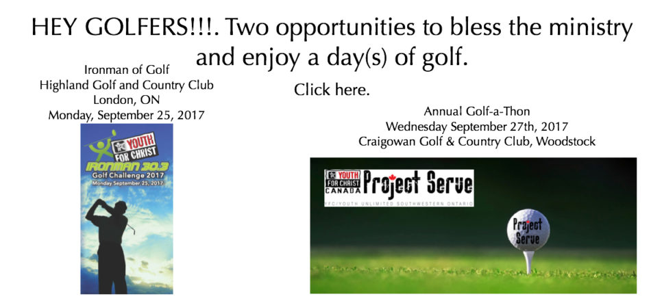 Calling all Golfers